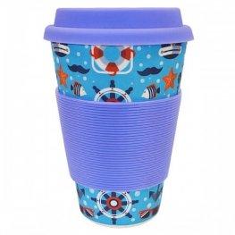 Еко чаша от бамбук Морска