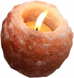 Свещник от хималайска сол 400 гр
