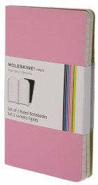 Бележник Moleskine Volant Notebook Ruled, Pink Pocket: Set of 2 [8701]