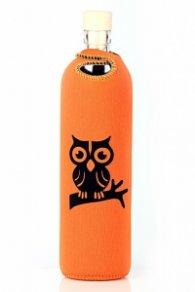 Бутилка FLASKA NEO DESIGN 0.750L: Оранж - черна сова