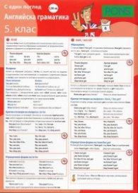 Английска граматика 5 клас/ С един поглед - дипляна