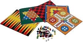 5 игри: Не се сърди, човече, Шах , Табла, Дама, Китайски шах