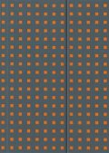 Бележник Paper- Oh Quadro Grey on Orange, B5, Lined/ 0588