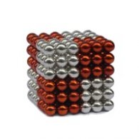 Magnetic Pixels Silver/Red