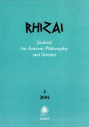 Rhizai: Journal for Ancient Philosophy and Science: 2/2004