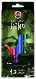 """Комплект цветни моливи """"Дино"""", 12 цвята 3592"""