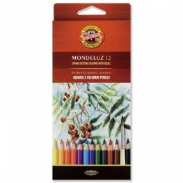 """Комплект акварелни цветни моливи """"Монделуз - плодчета"""", 12 цвята/кутия 3716"""