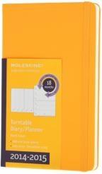Бележник Moleskine 2014-2015 Turntable Weekly Planner 18M Large Orange Yellow Hard Cover [2961]