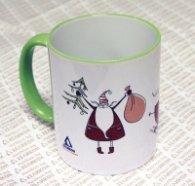 Чаша Хеликон Коледна - зелена