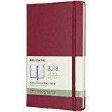 Moleskine 12 Month Weekly Planner 2018, Pocket, Berry Rose, Hard Cover [5686]