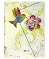 Бележник Paperblanks 2018 Hummingbird, Midi, Lined/ 42129