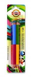 Комплект от пет двуцветни моливи джъмбо 2195005001BL